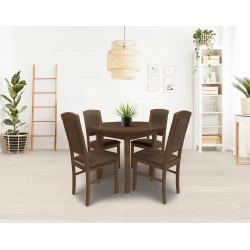 Ēdamistabas komplekts (galds un 4 krēsli)