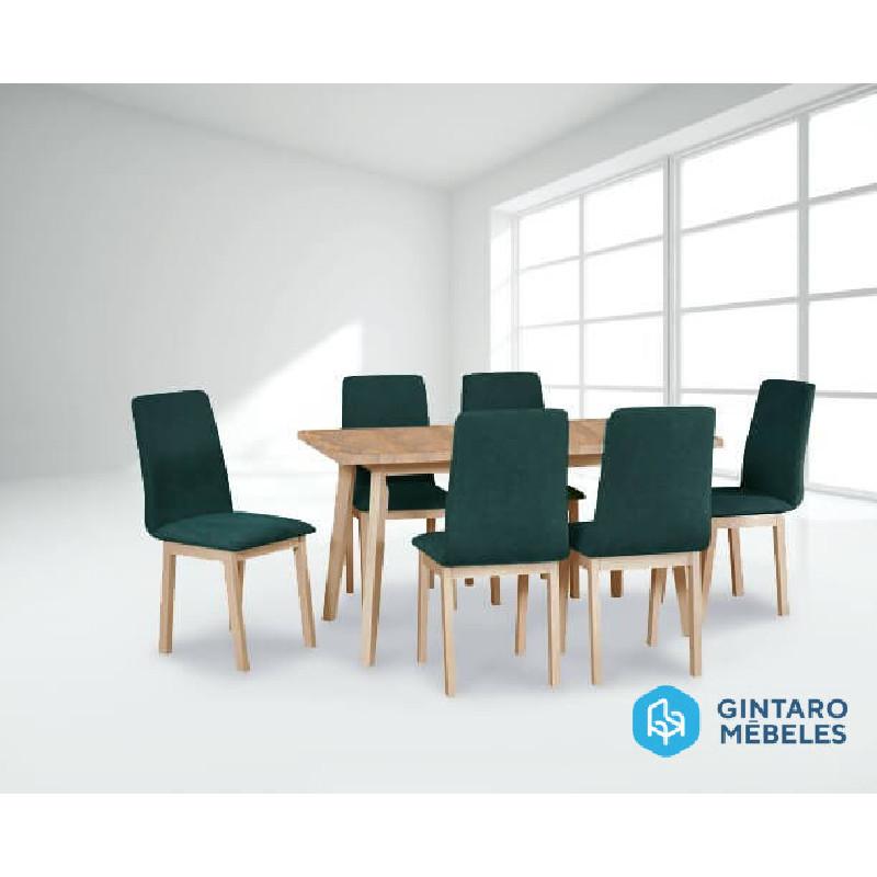 Ēdamistabas komplekts (galds un 6 krēsli)